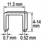 Spona do sešívačky 12 x 11,2 mm 1000 ks