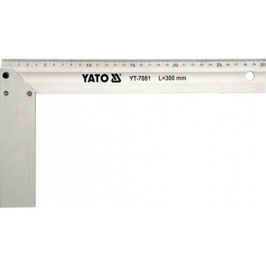 Truhlářský úhelník hliníkový 250mm