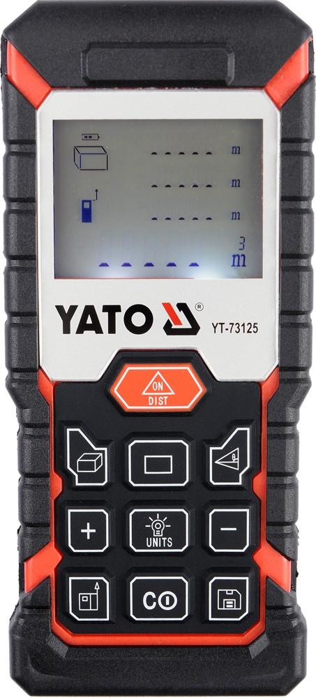 Měřič vzdálenosti, úhlu, obvodu, objemu laserový max 40m