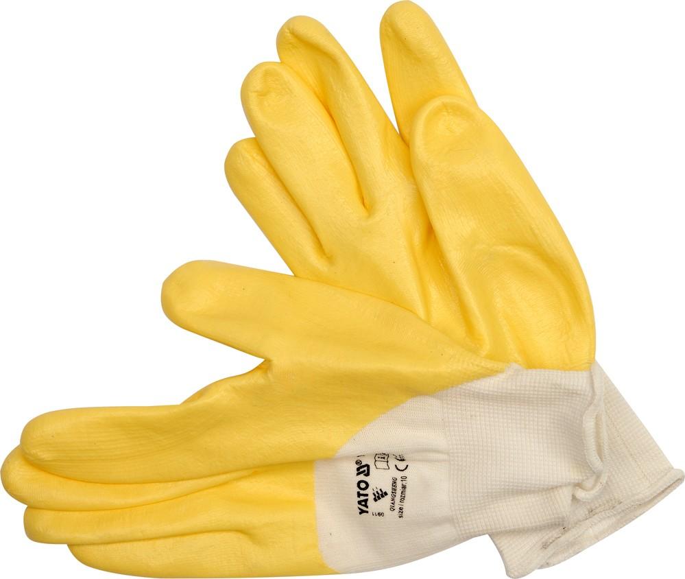 Rukavice pracovní nylon/nitril vel. 10