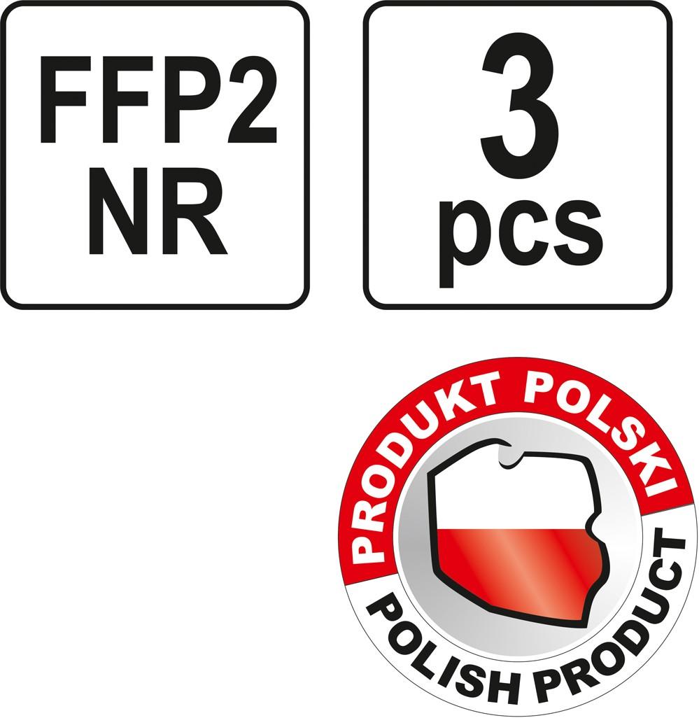 Respirátor s ventilem 3ks FFP2 EN 149:2001