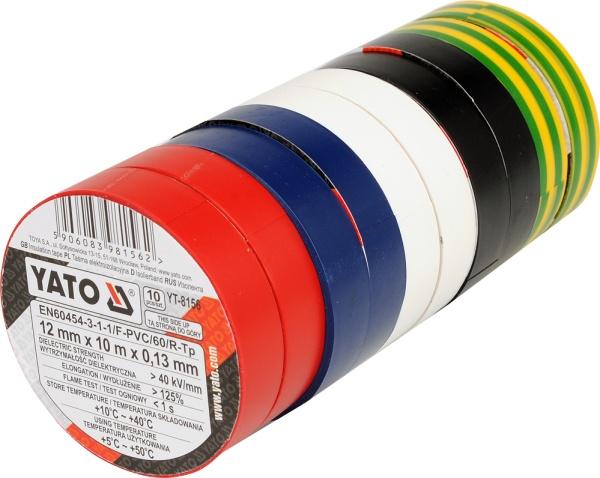 Páska izolační 12 x 0,13 mm x 10 m barevná 10 ks