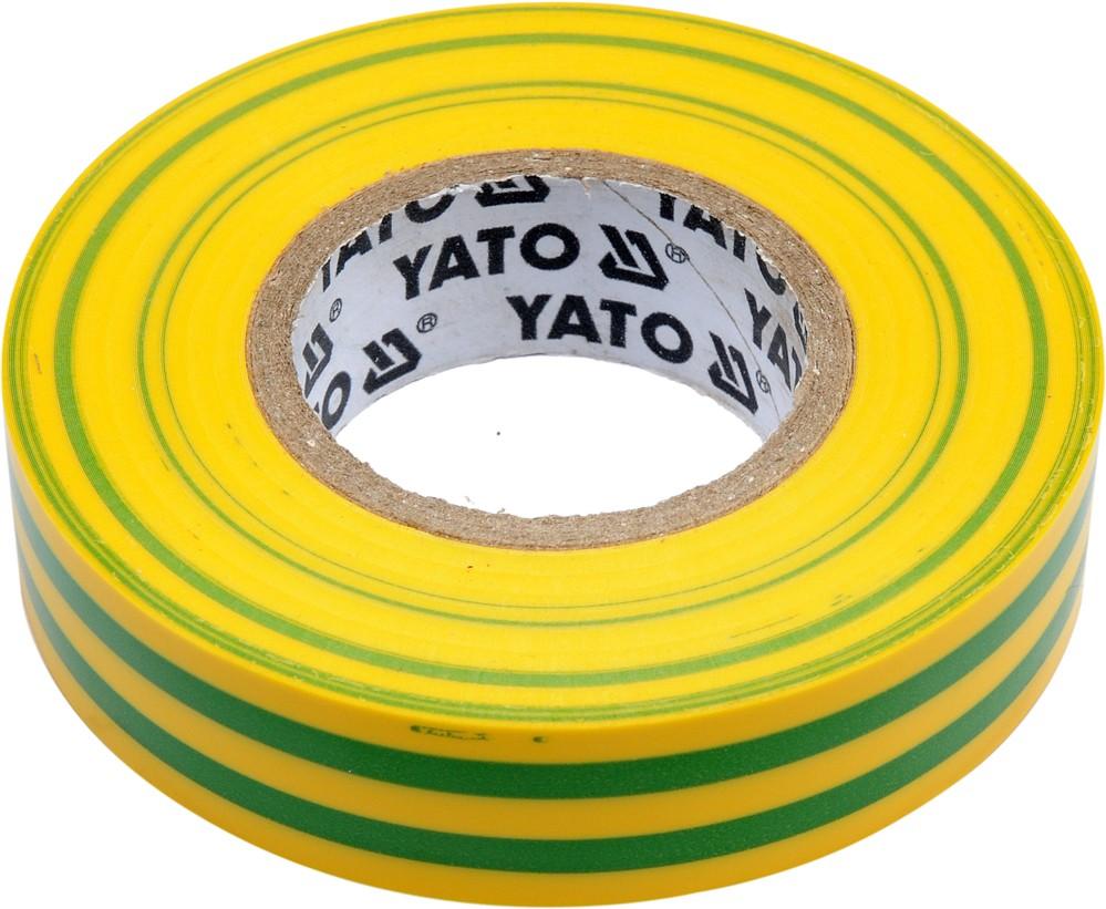 Izolační páska elektrikářská PVC 15mm / 20m žlutozelená