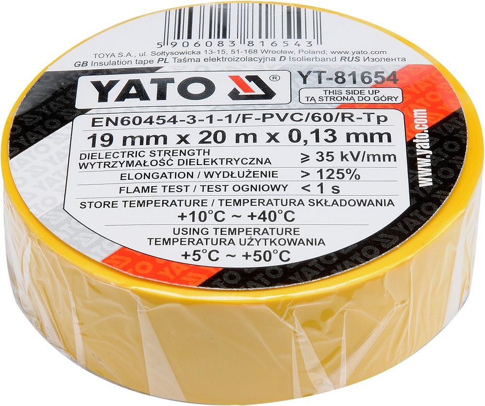 Páska izolační 19 x 0,13 mm x 20 m žlutá