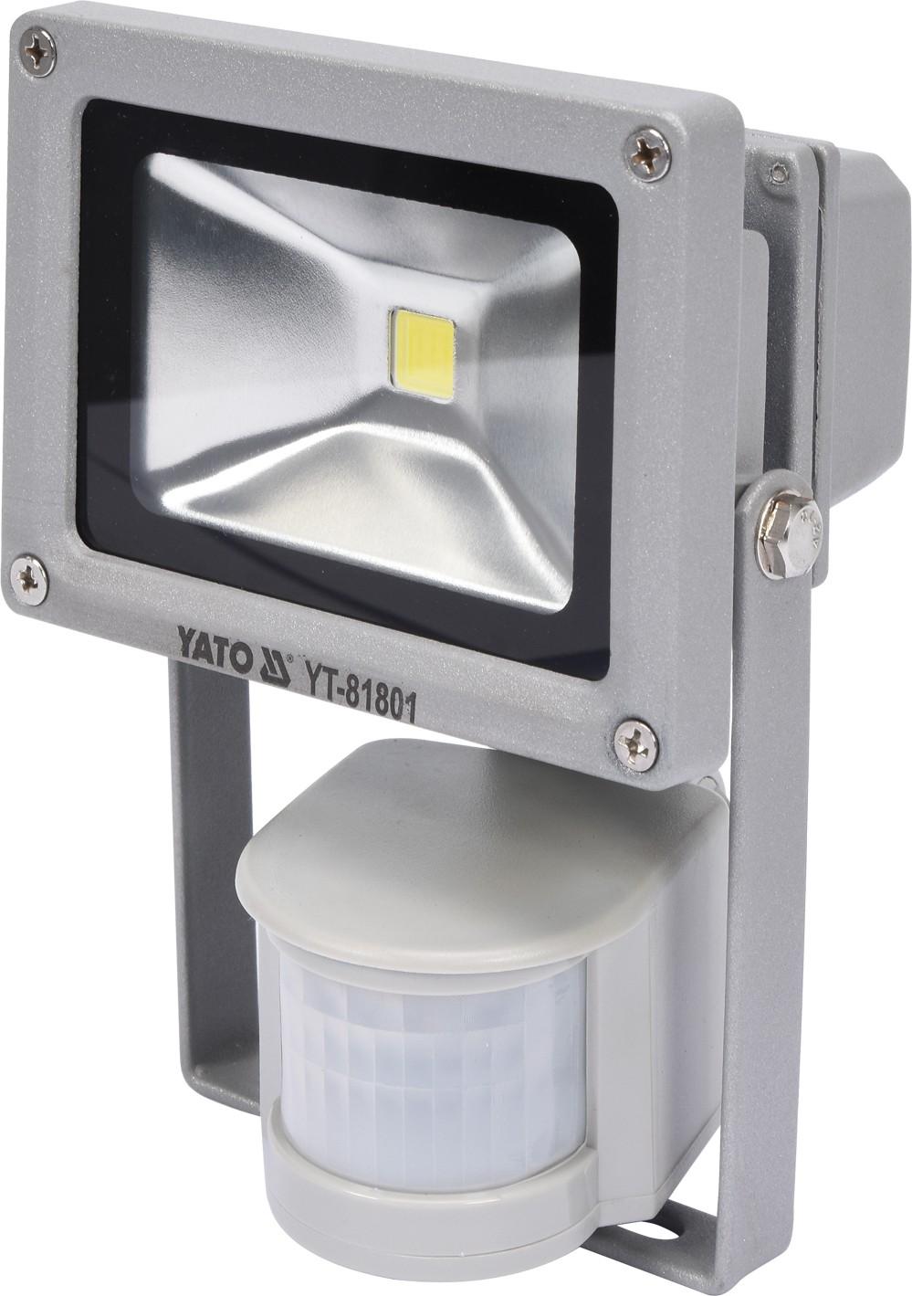 Reflektor s vysoce svítivou COB LED, 10W, 700lm, IP44, pohyb. senzor