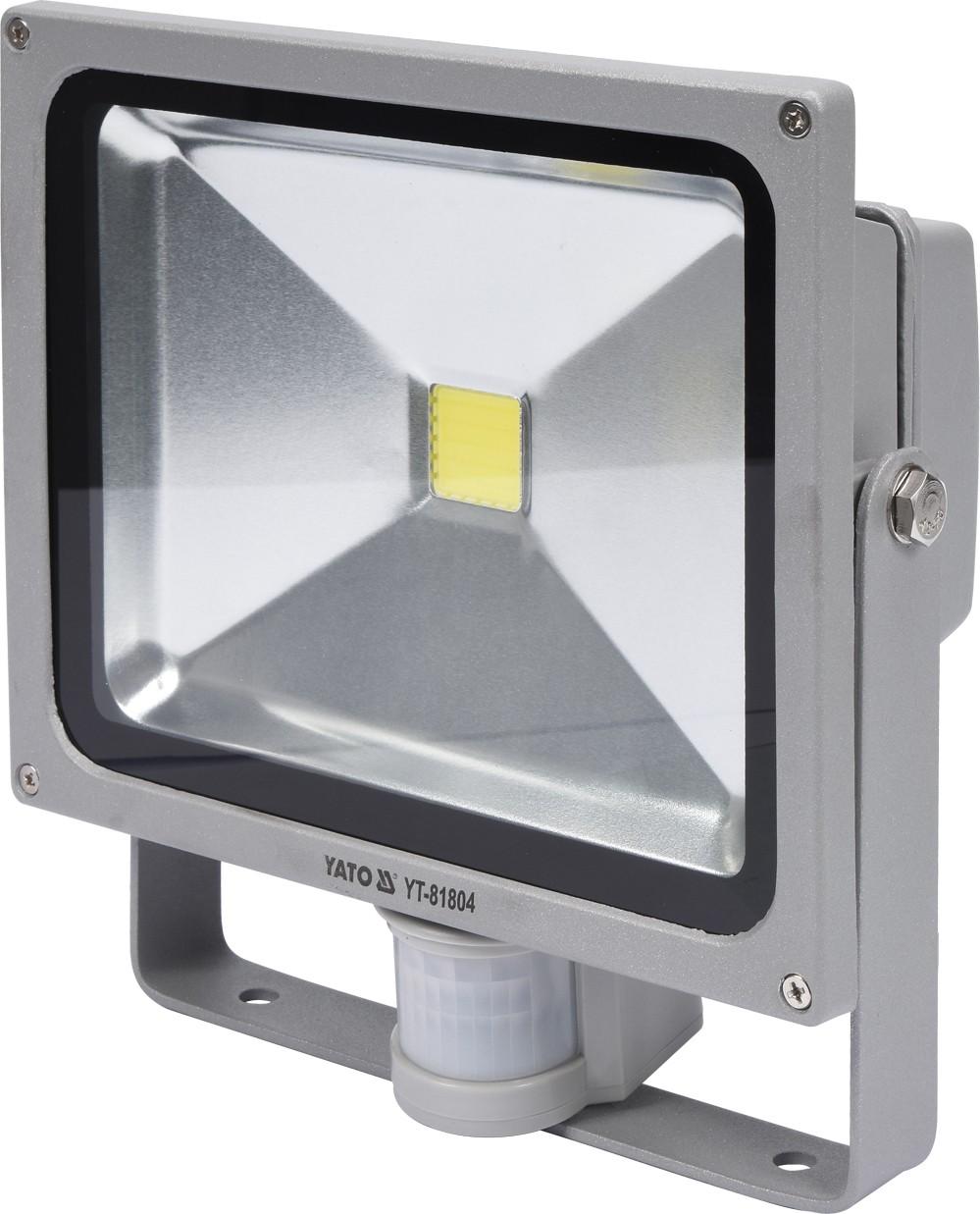 Reflektor s vysoce svítivou COB LED, 30W, 2100lm, IP44, pohyb. senzor