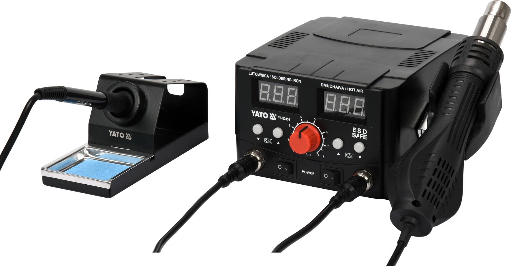 Pájecí stanice 2v1 s LED displejem 750W/75W