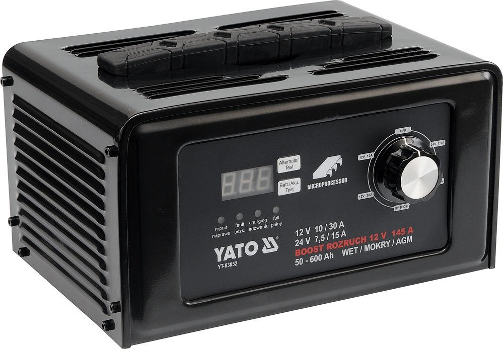 YATO YT-83052 Nabíječka digitální s jump starterem 30A