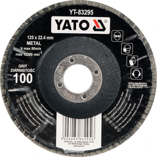 Kotouč lamelový korundový 125 x 22,2 mm vypouklý brusný P36