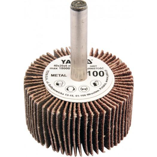 Kotouč lamelový radiální 40x20  P-150 s hřídelíu 6 mm
