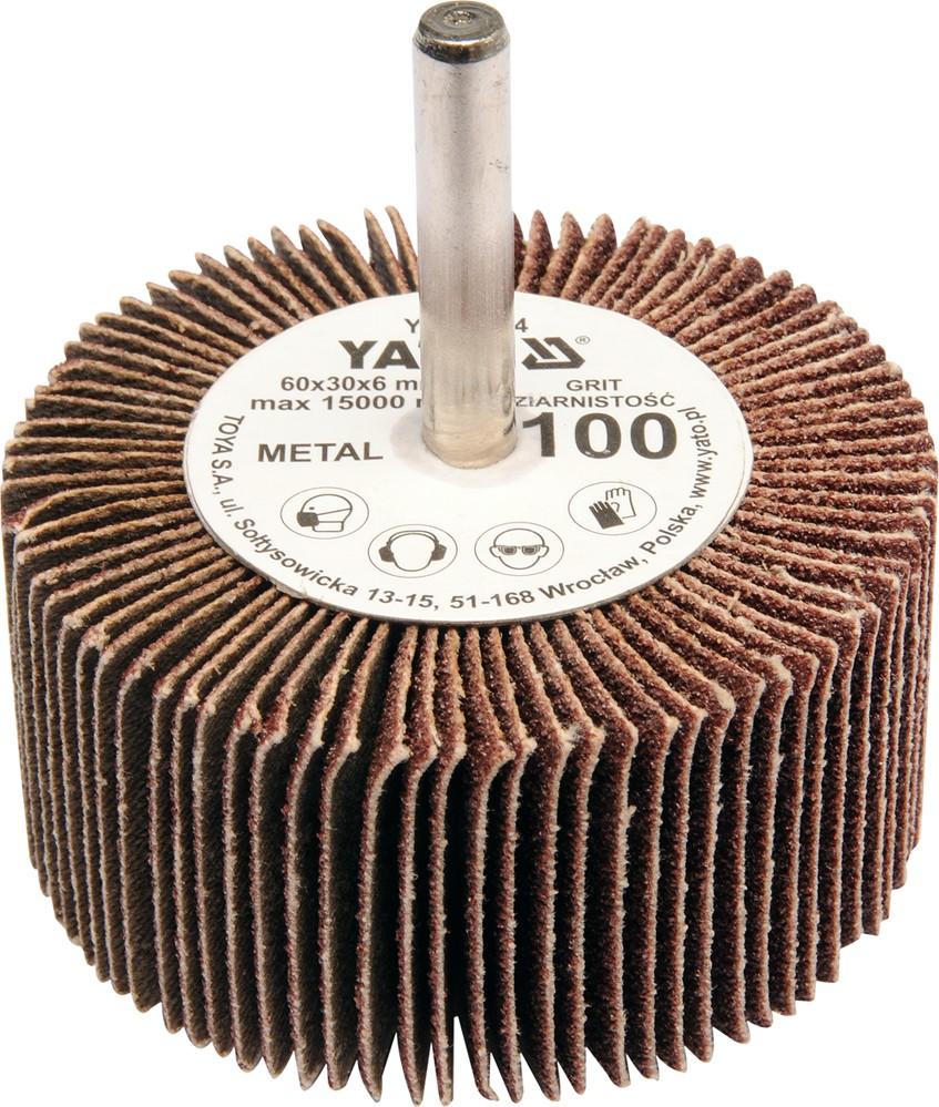 Kotouč lamelový radiální 60x30  P-60 s hřídelí 6 mm
