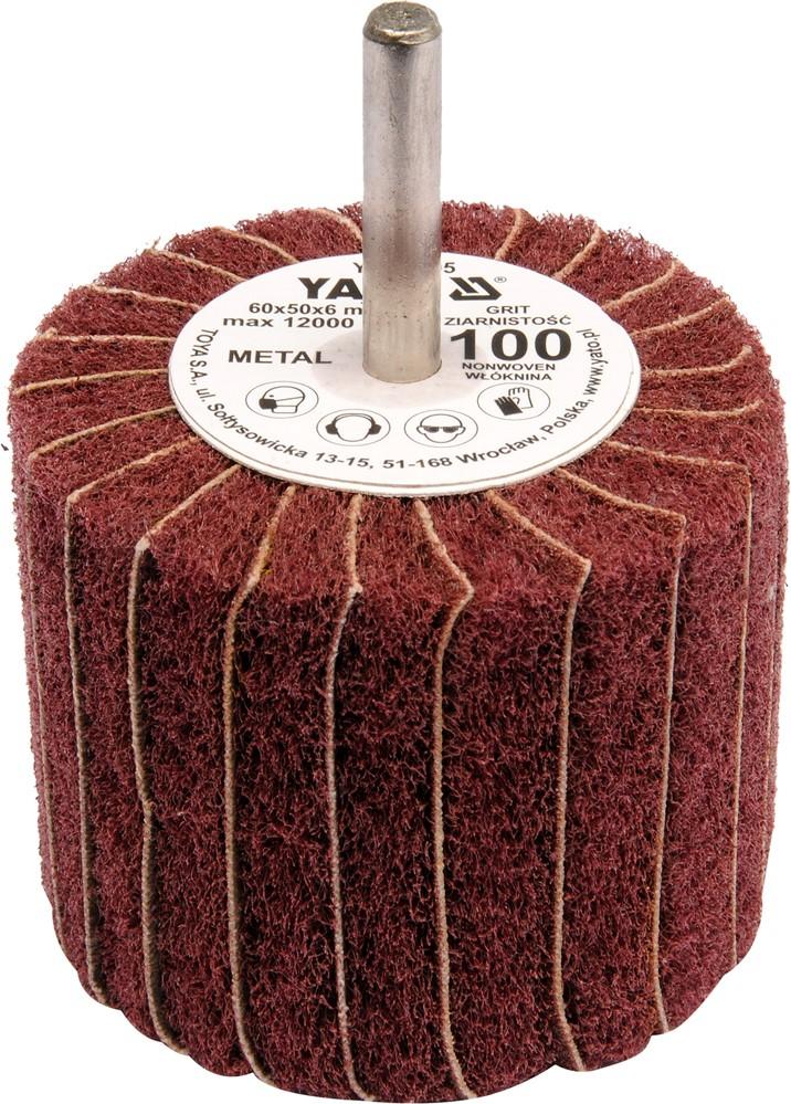 Kotouč lamelový radiální 60x50  P-150 s hřídelí 6 mm