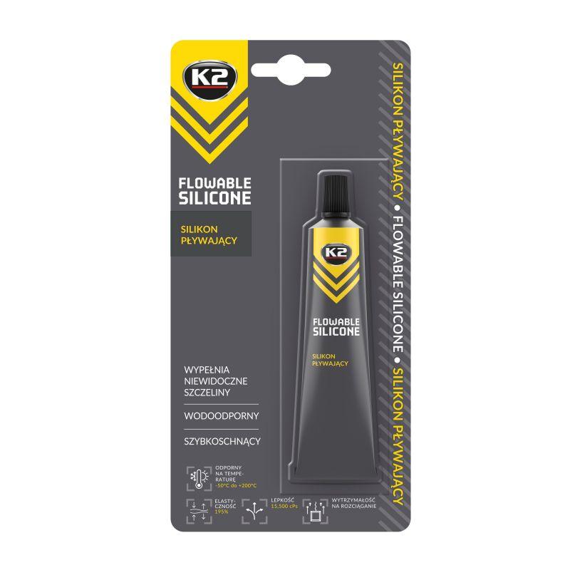 K2 FLOWABLE SILICONE 21g - silikonové těsnění autoskel a reflektorů