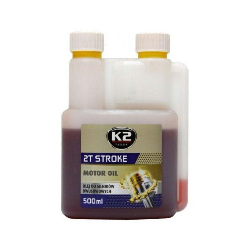 K2 TEXAR 2T STROKE 500ml ČERVENÝ - Polosynt. 2takt. olej