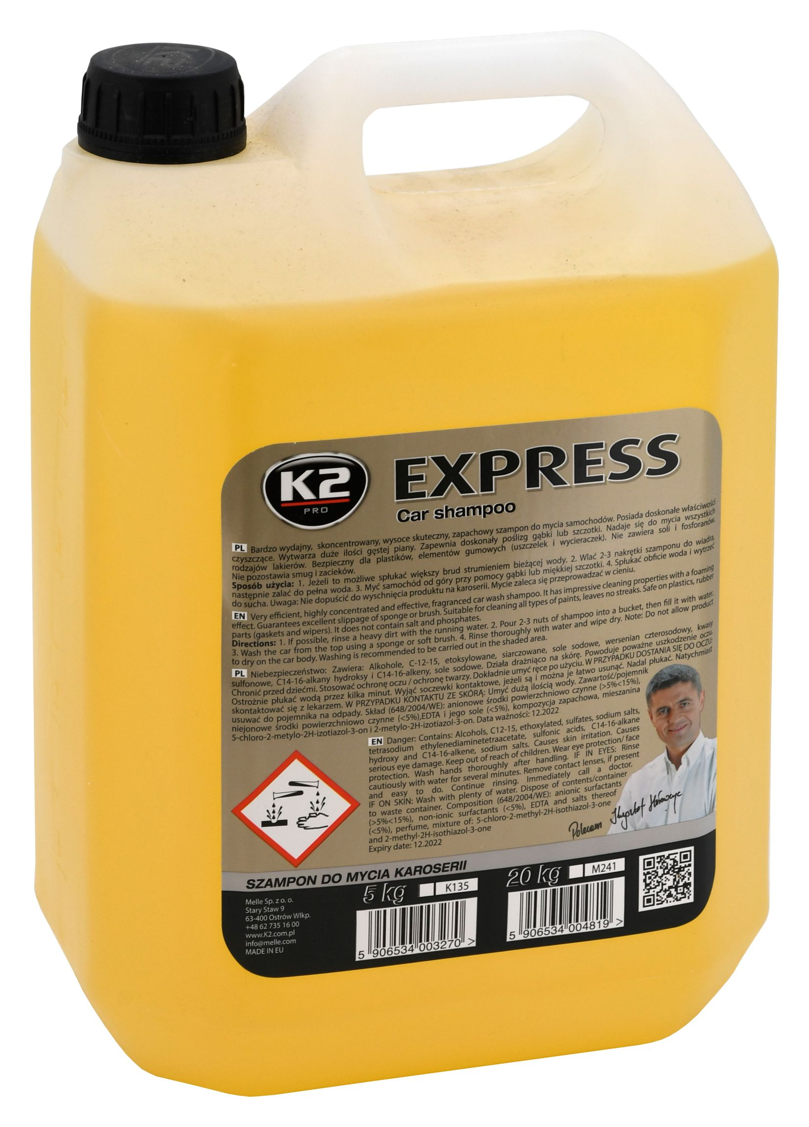 K2 Šampon bez vosku 5L (koncentrát)