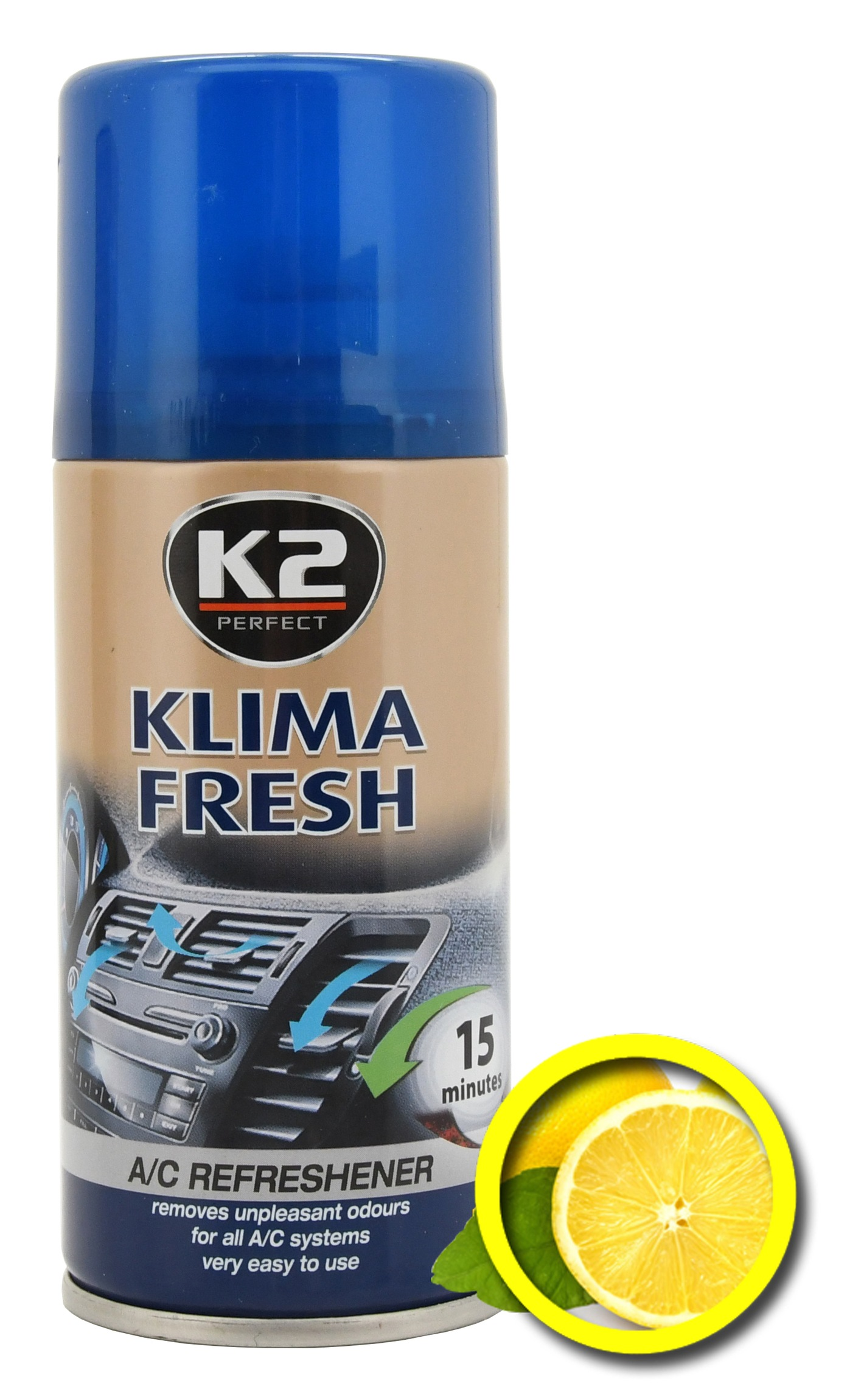 K2 Osvěžovač KLIMA FRESH 150 ml LEMON