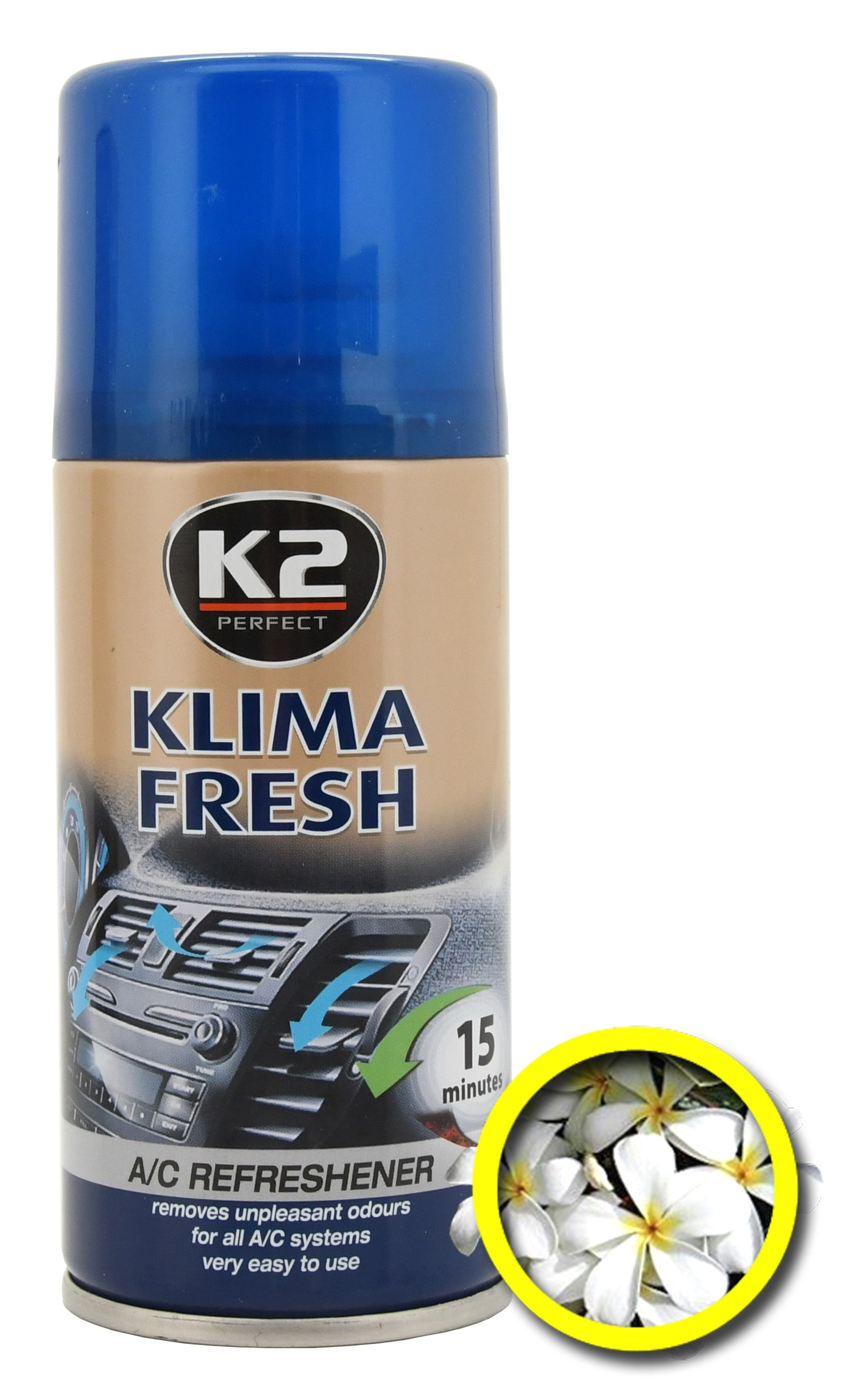 K2 Osvěžovač KLIMA FRESH 150 ml FLOWER