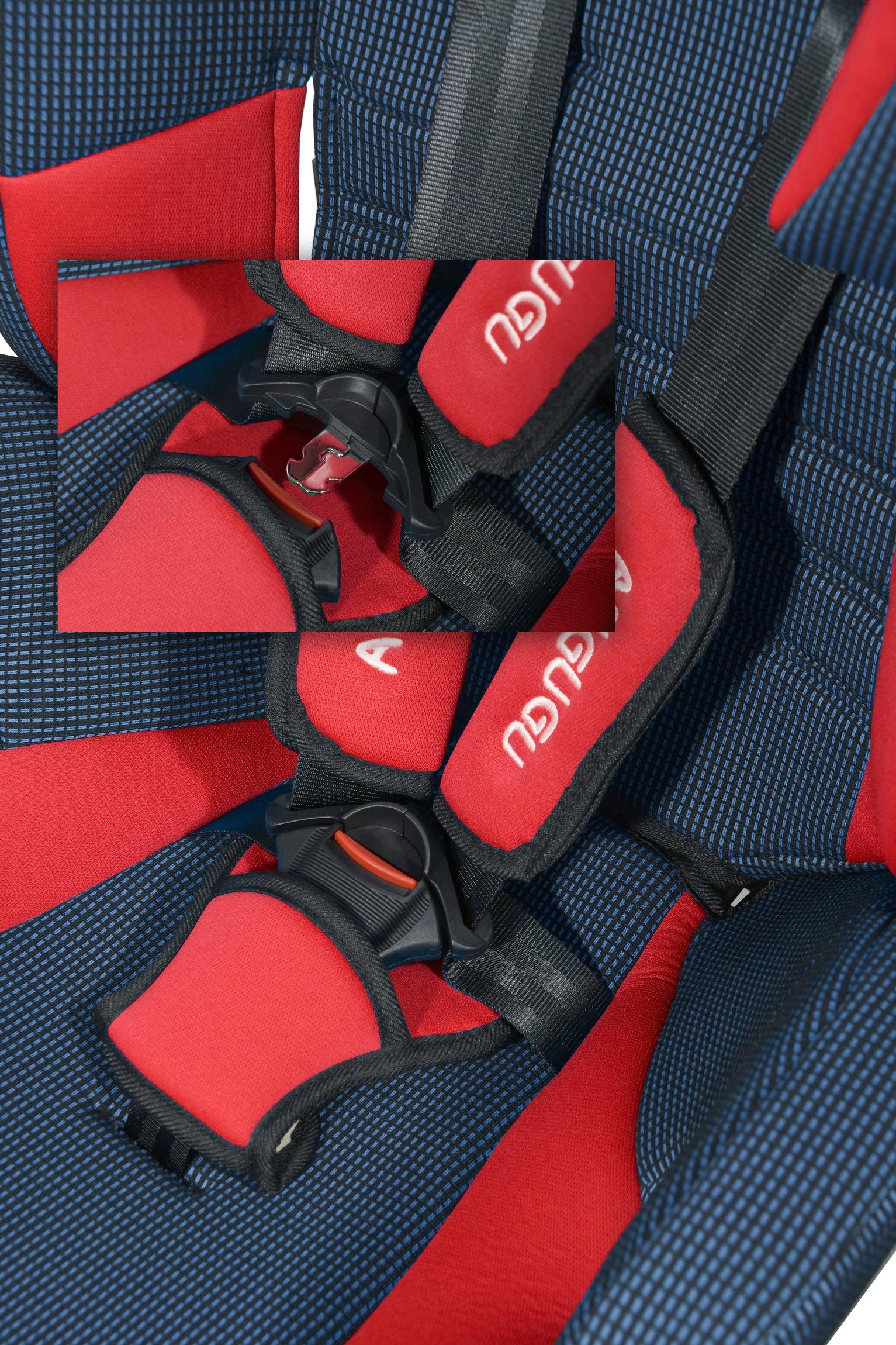 Autosedačka (I,II,III) 9-36kg ANGUGU s pásy červená