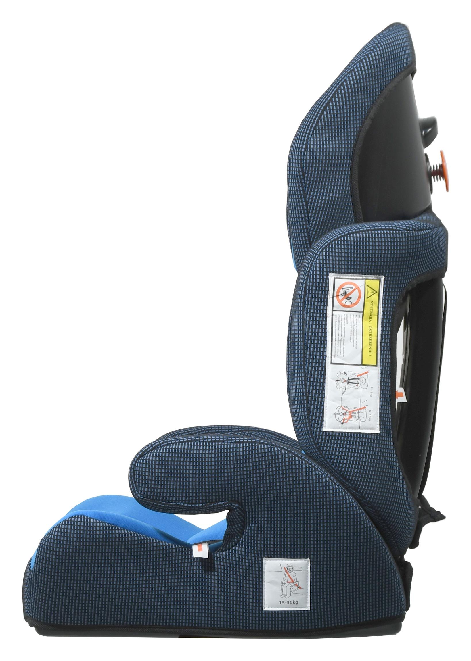 Autosedačka (I,II,III) 9-36kg ANGUGU s pásy modrá
