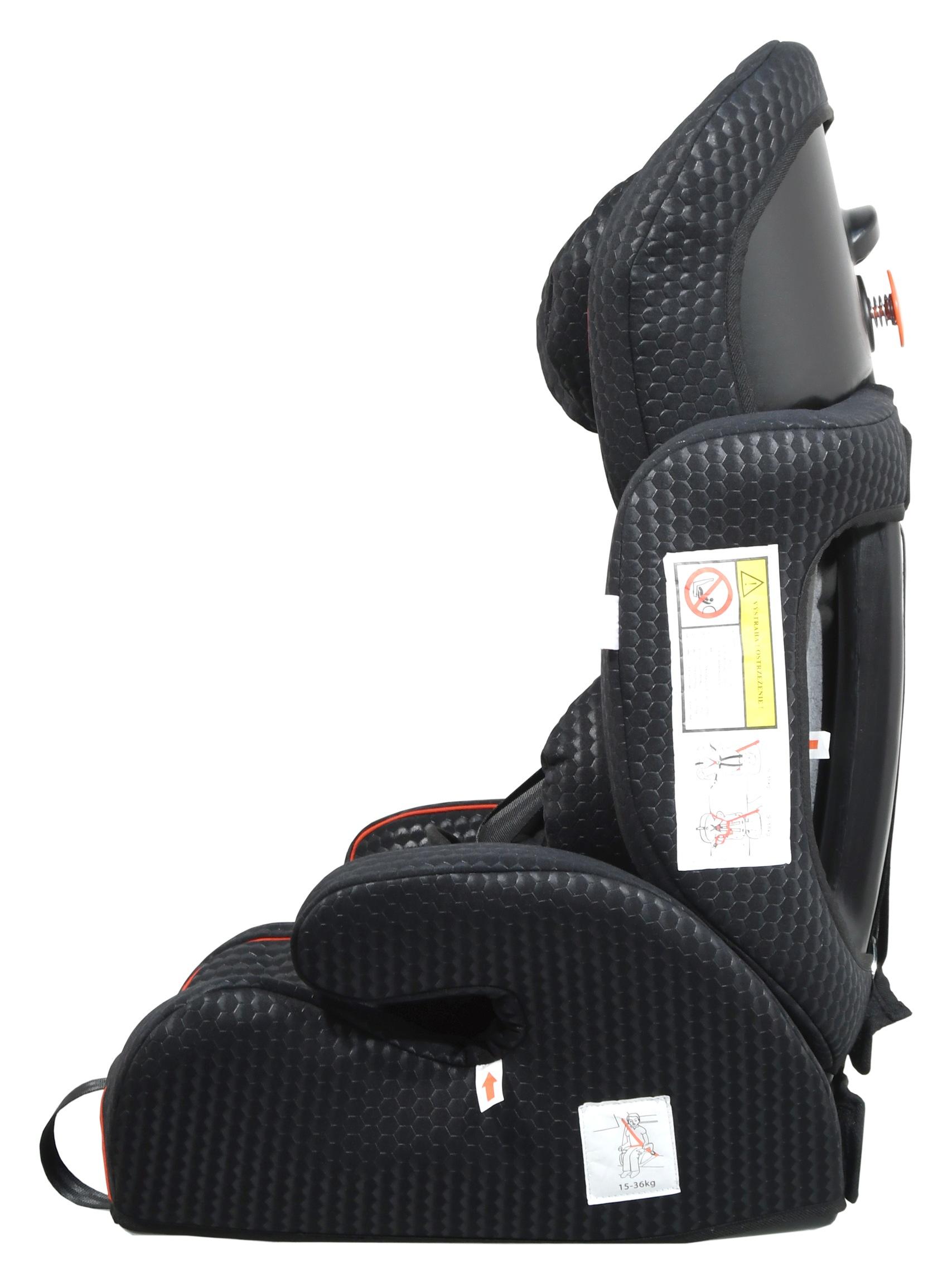 Autosedačka (I,II,III) 9-36kg MEDDY s pásy černá