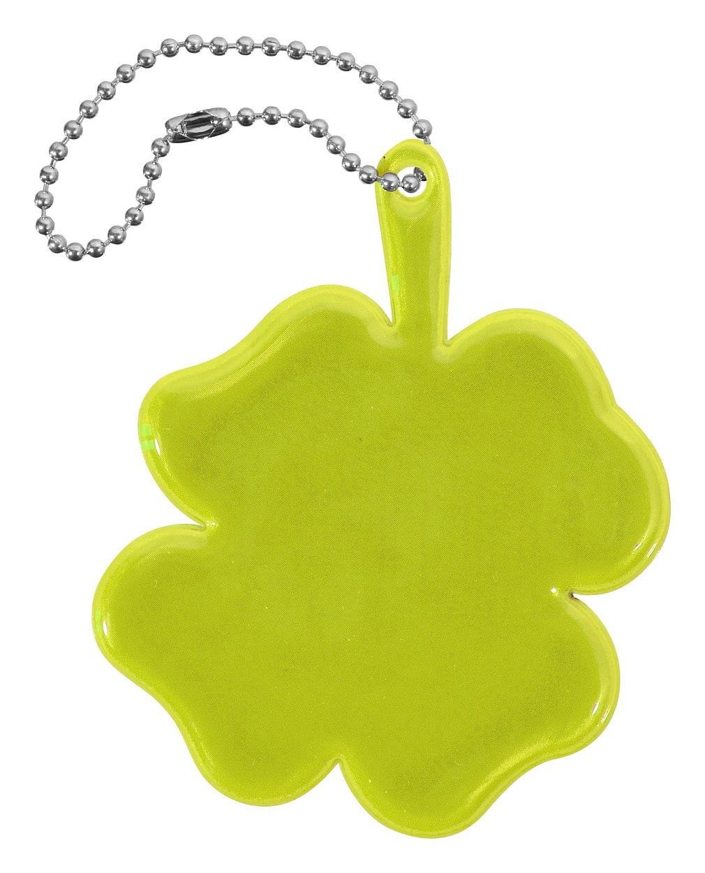 Přívěšek reflexní ČTYŘLÍSTEK - žlutý
