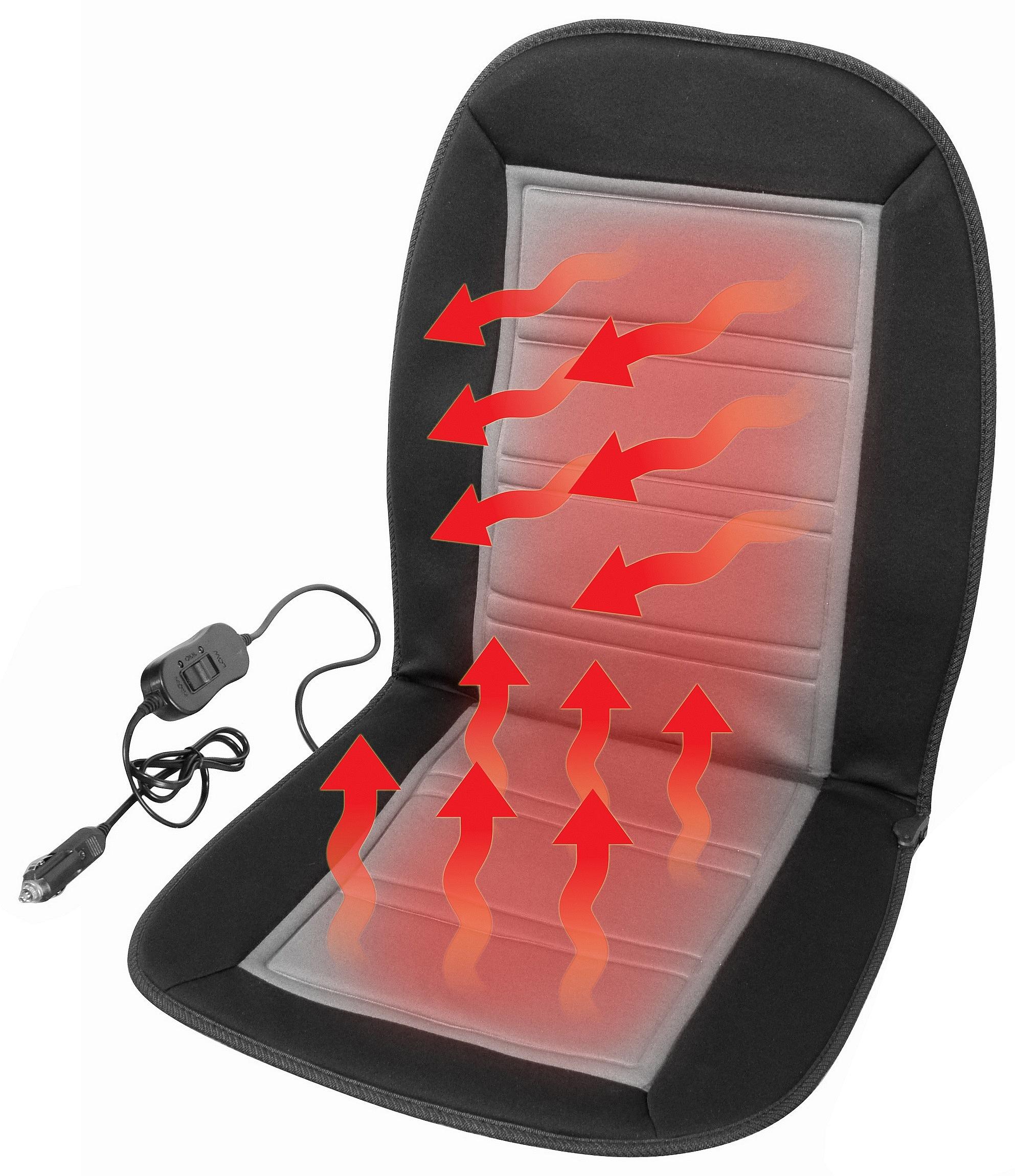 Potah sedadla vyhřívaný s termostatem 12V LADDER šedý