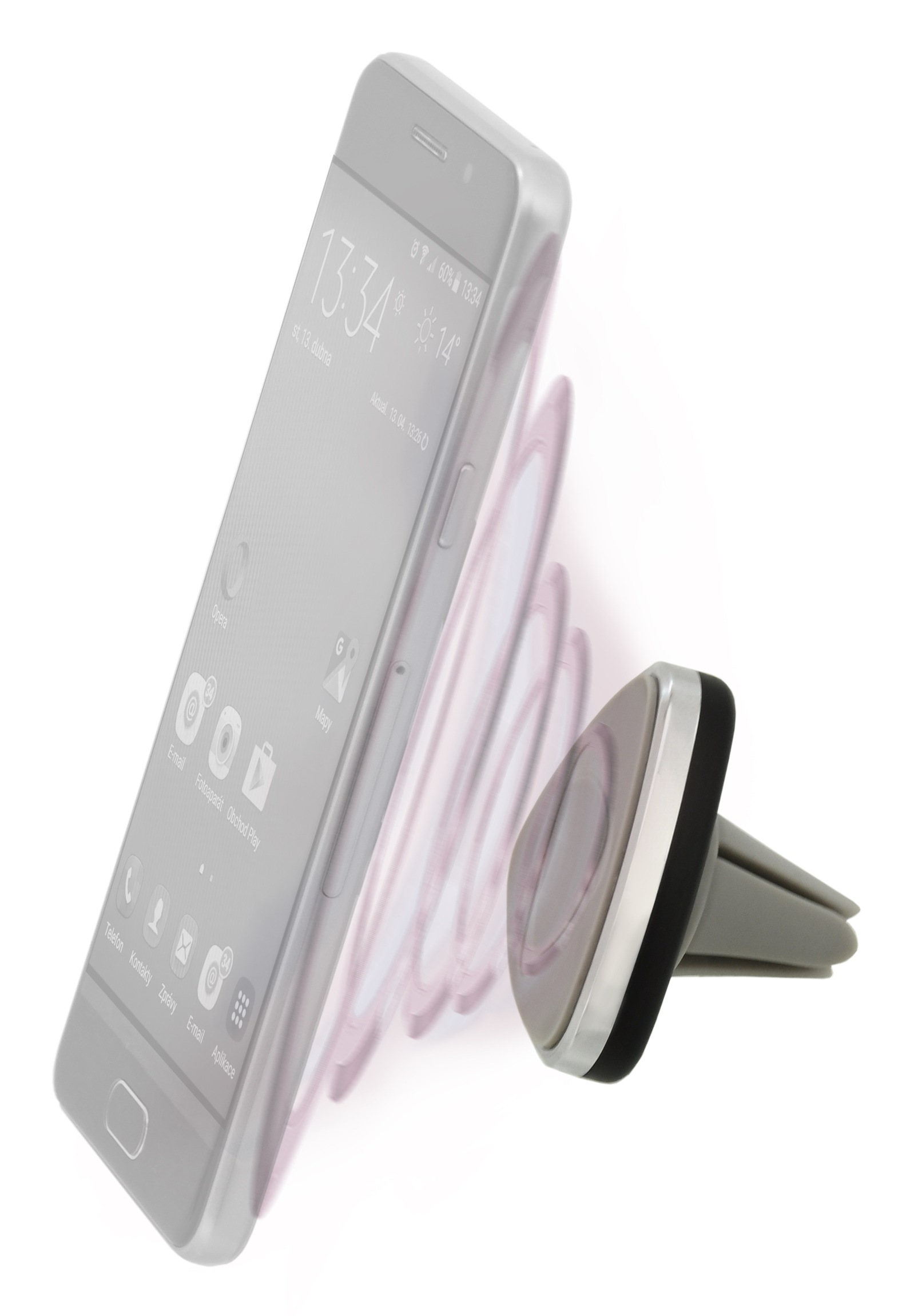 Držák telefonu magnetický do mřížky TRIANGLE
