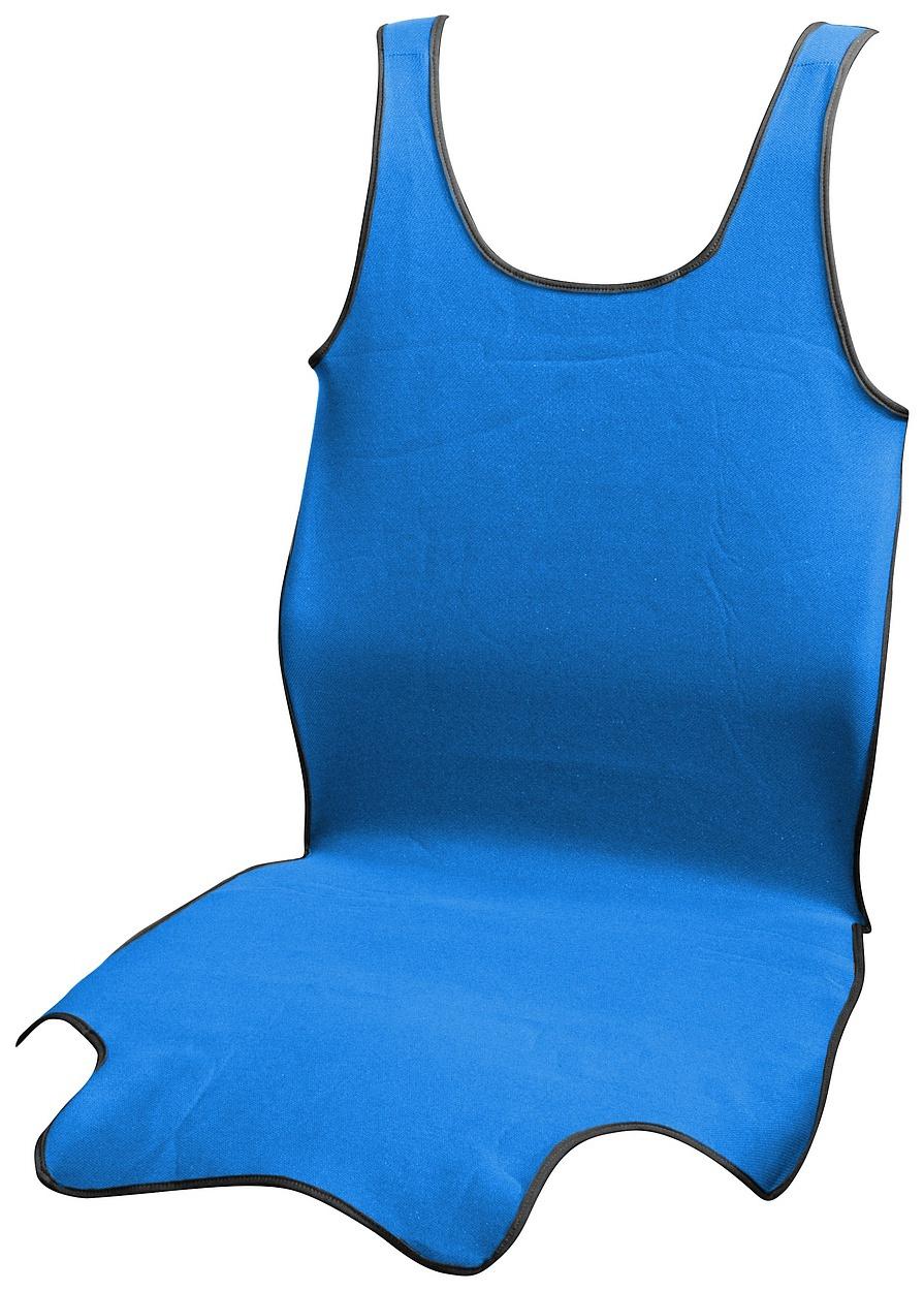Potah sedadla TRIKO SOFT přední 1ks modrý