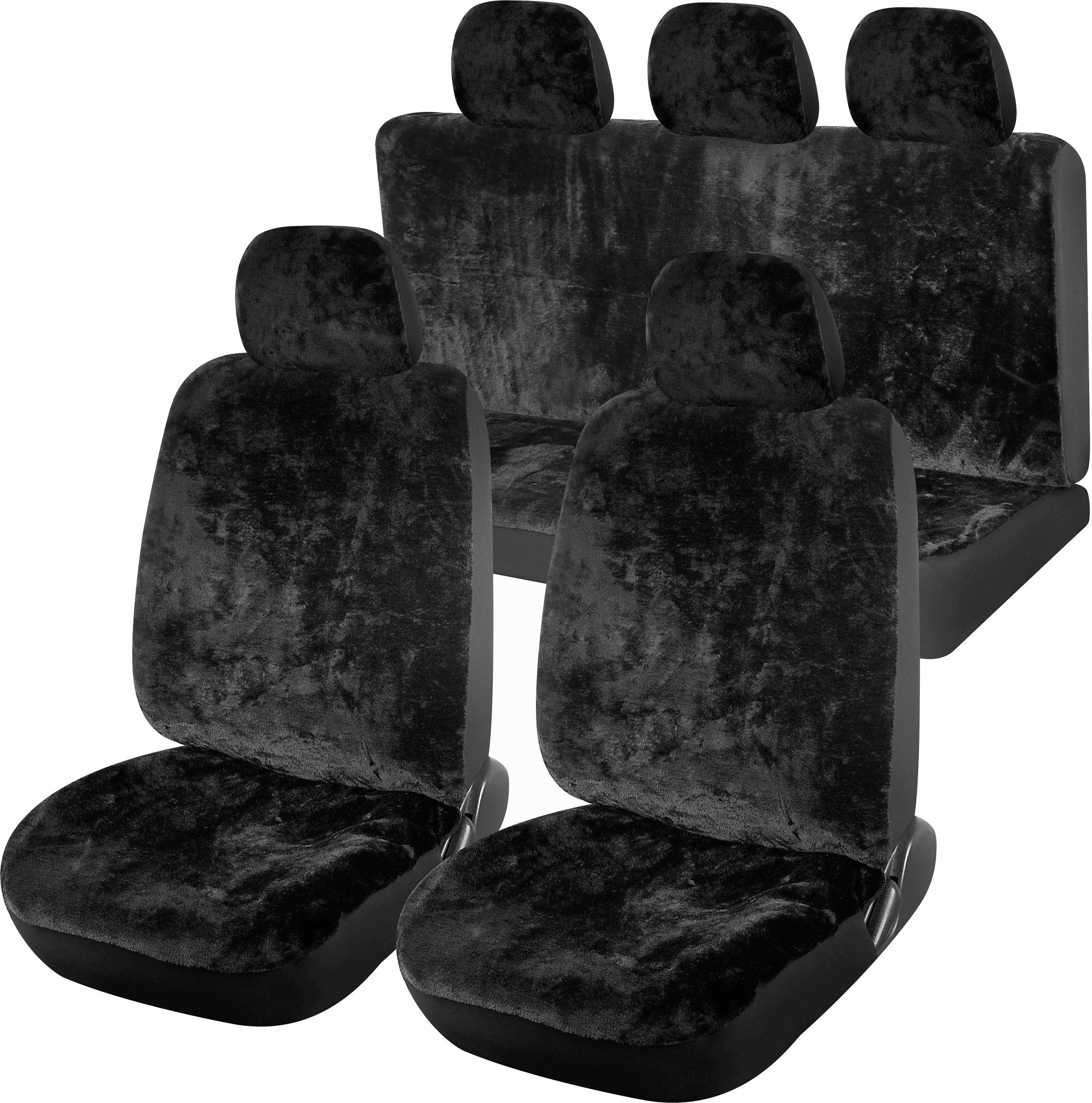 Potahy sedadel sada 11ks SMOOTH černé