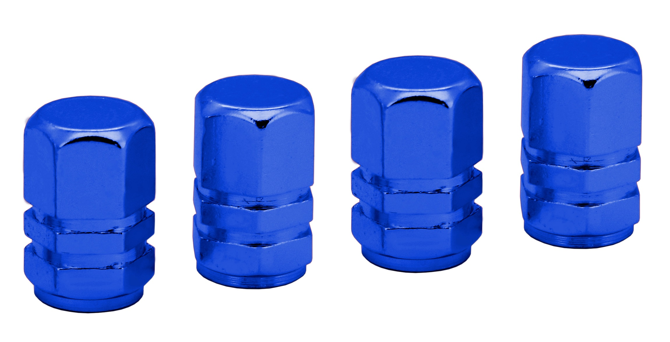 Ozdobné kryty ventilků modré 4ks