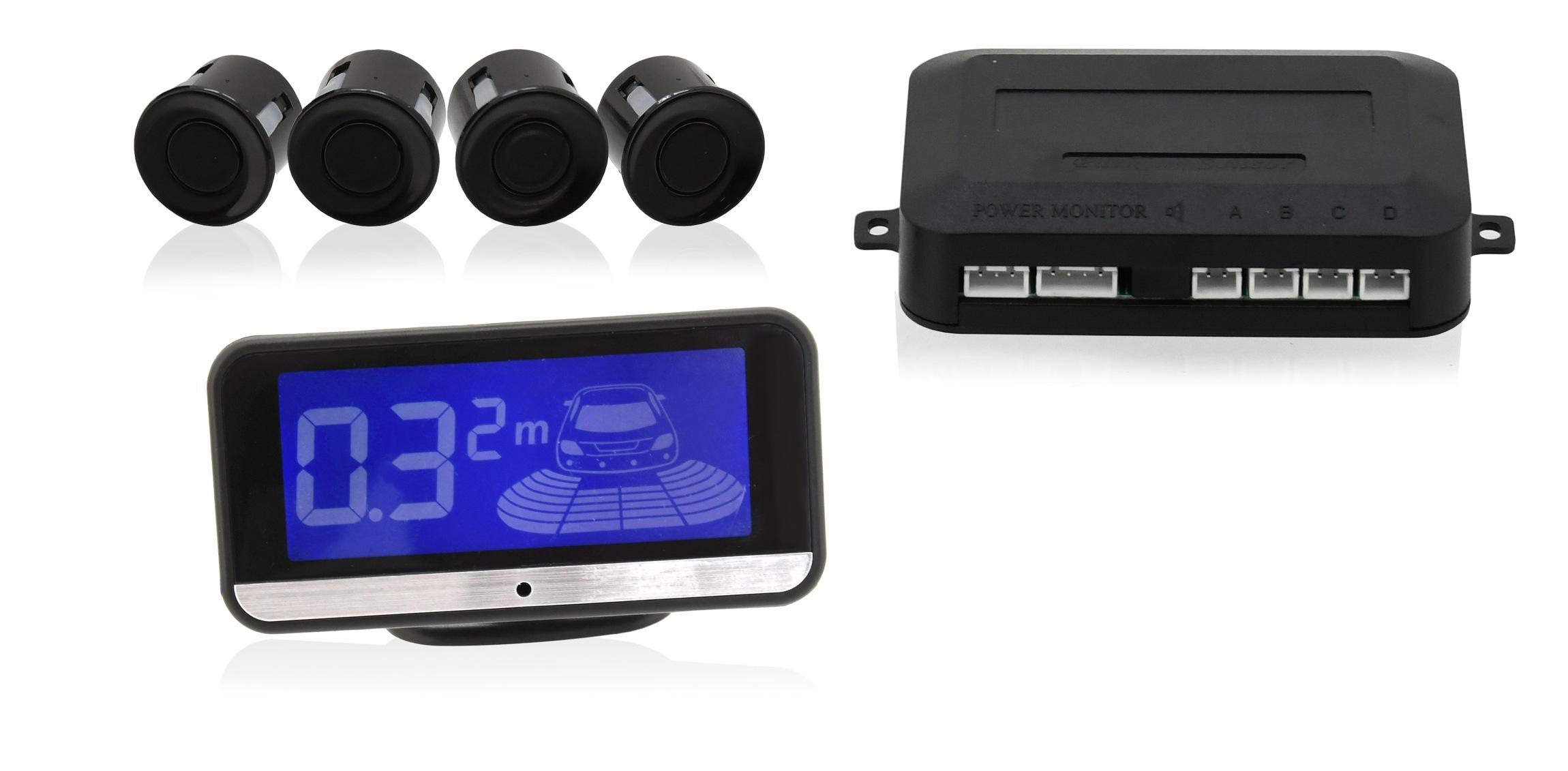 Parkovací asistent 4 senzory. LCD display