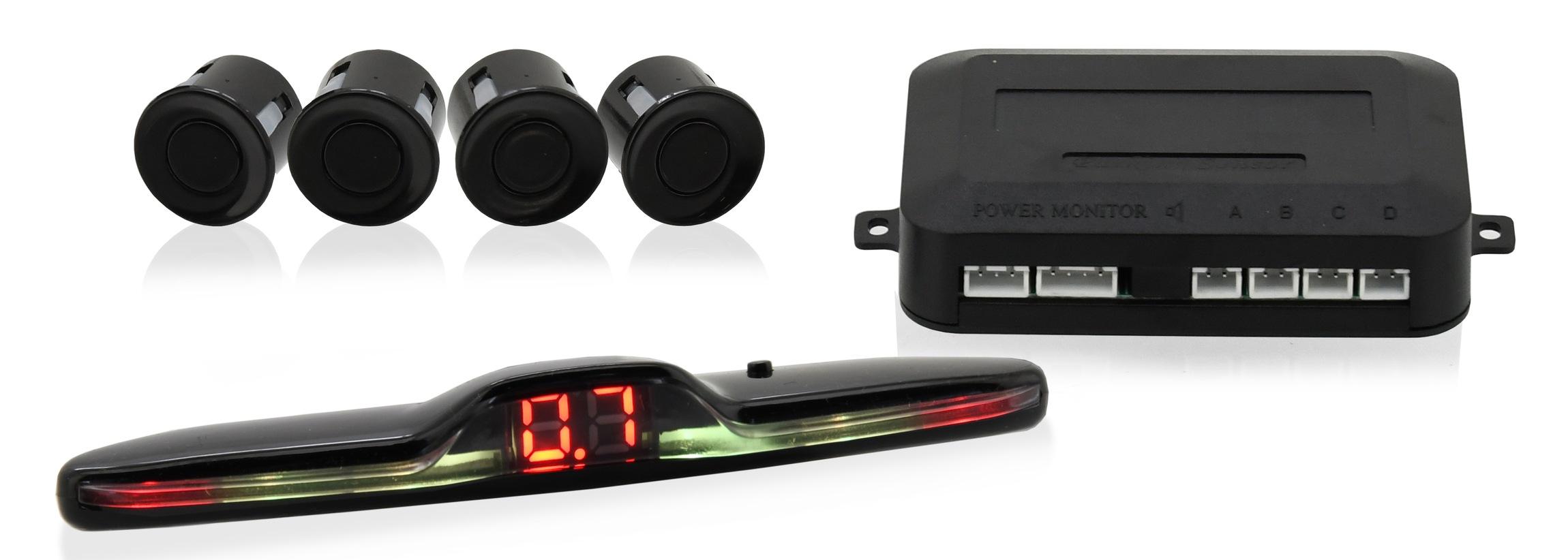 Parkovací asistent 4 senzory. WING. LED display