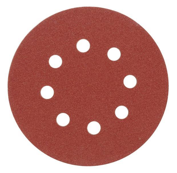 Brusný papír 125 mm P36 s otvory 5 ks suchý zip