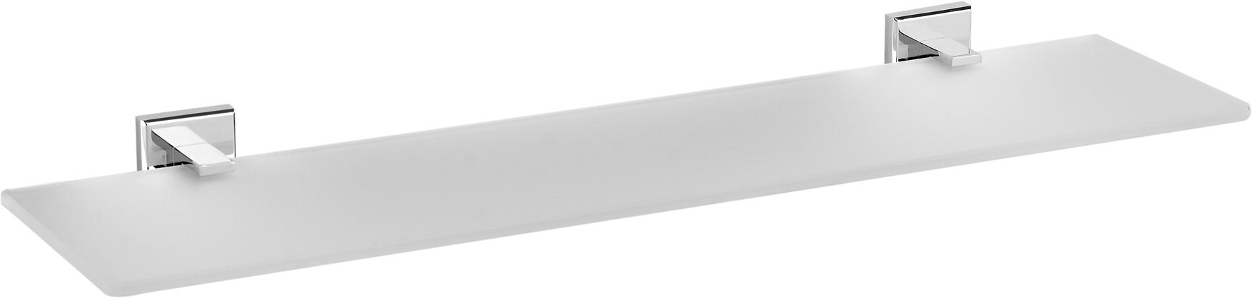 Skleněná polička 50 cm Quad Chrom
