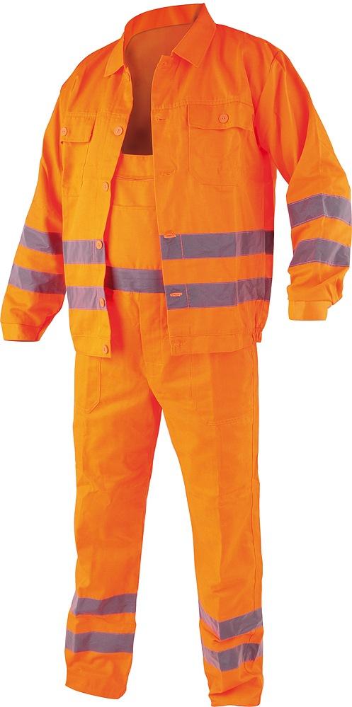 Pracovní oděv, reflexní kalhoty a blůza, CRESTON vel. M