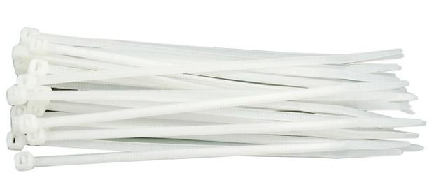 Páska stahovací 200 x 2,5 mm 100 ks bílá