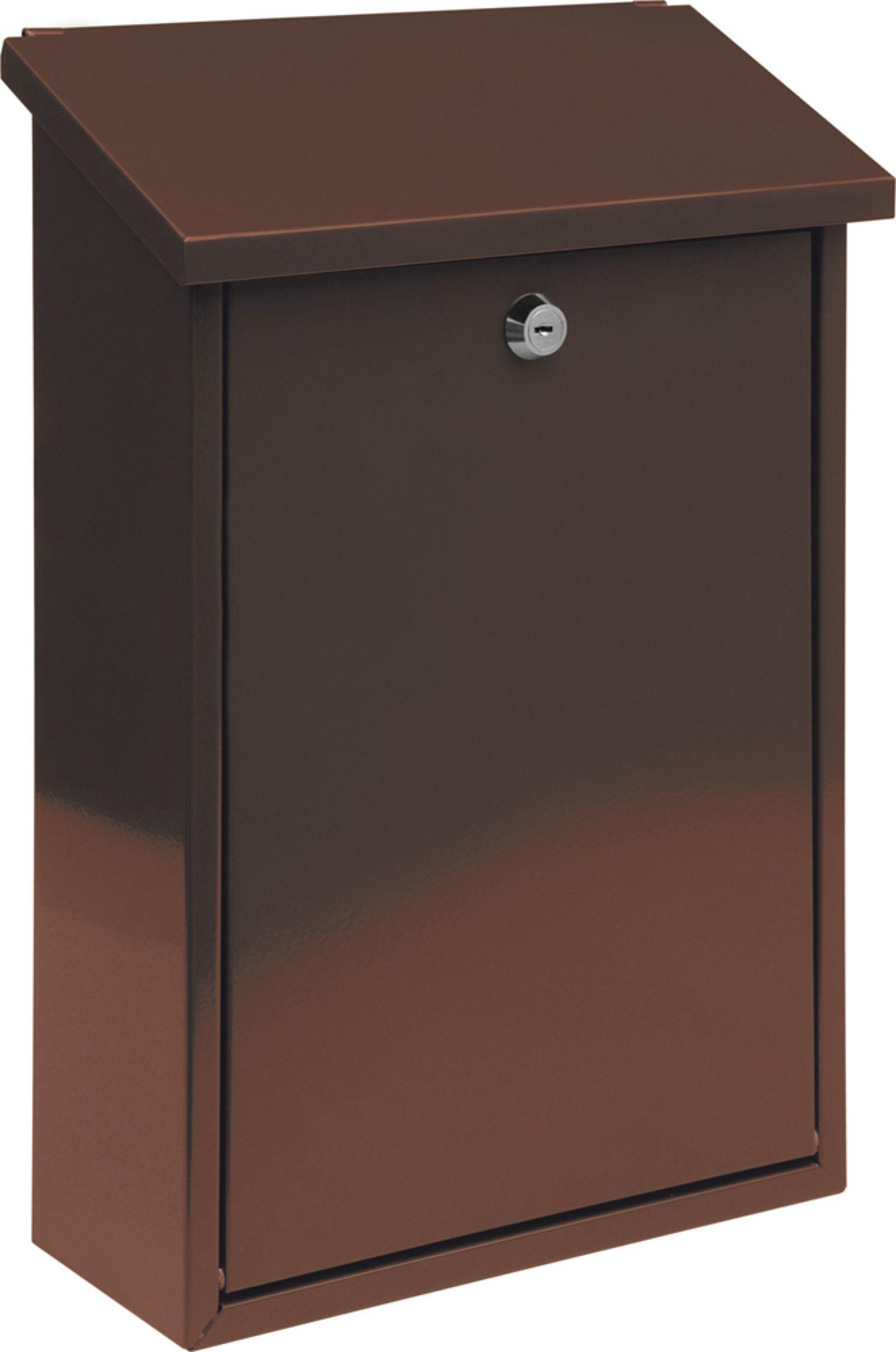 Poštovní schránka 400x250x100mm hnědá