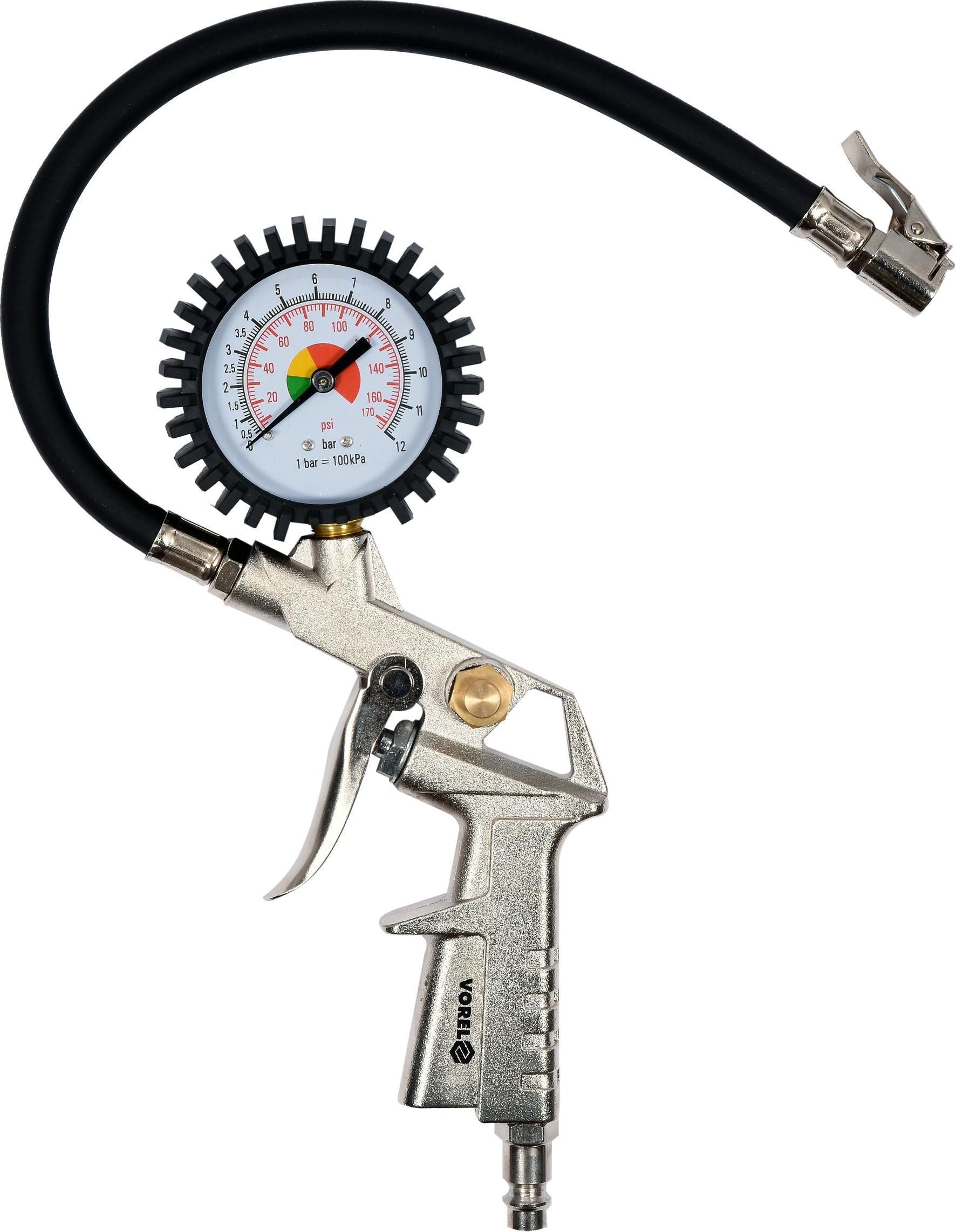 Pistole na hustění pneu s manometrem 2,8-10 bar