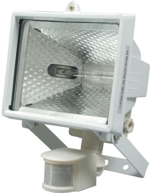 Lampa halogenová 500 W bílá se senzorem