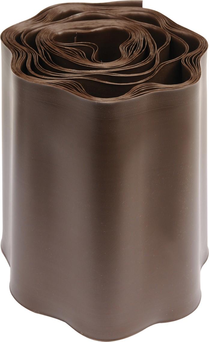 Plastový okraj trávníku v:200mm, d:9m hnědý
