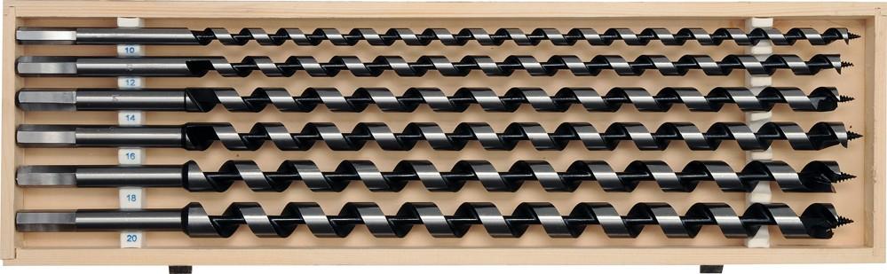 Sada hadovitých vrtáků do dřeva 10.12.14.16.18.20 délka 460mm