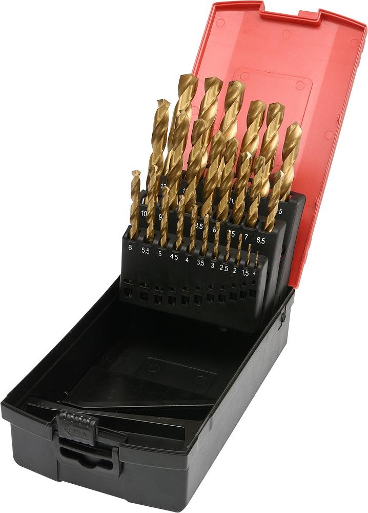 Sada vrtáků do železa HSS-TiN 25ks 1-13mm