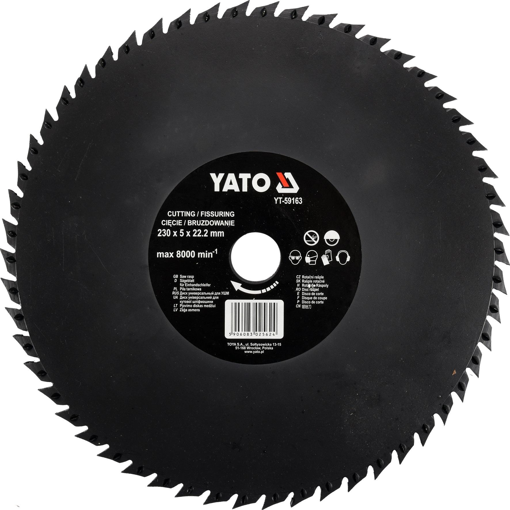 Rotační rašple pilková 230 mm