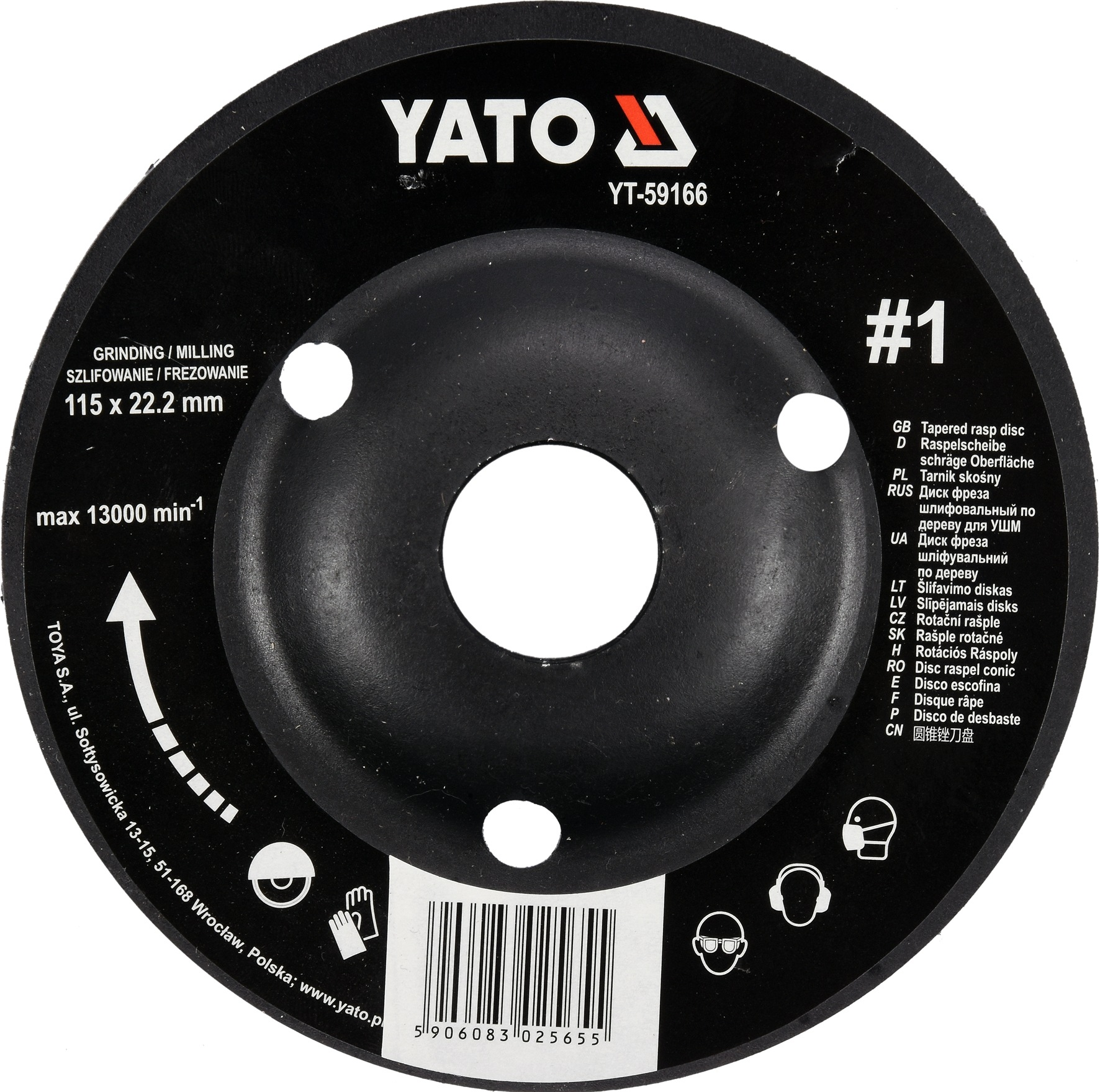 Rotační rašple úhlová hrubá 115 mm typ 1