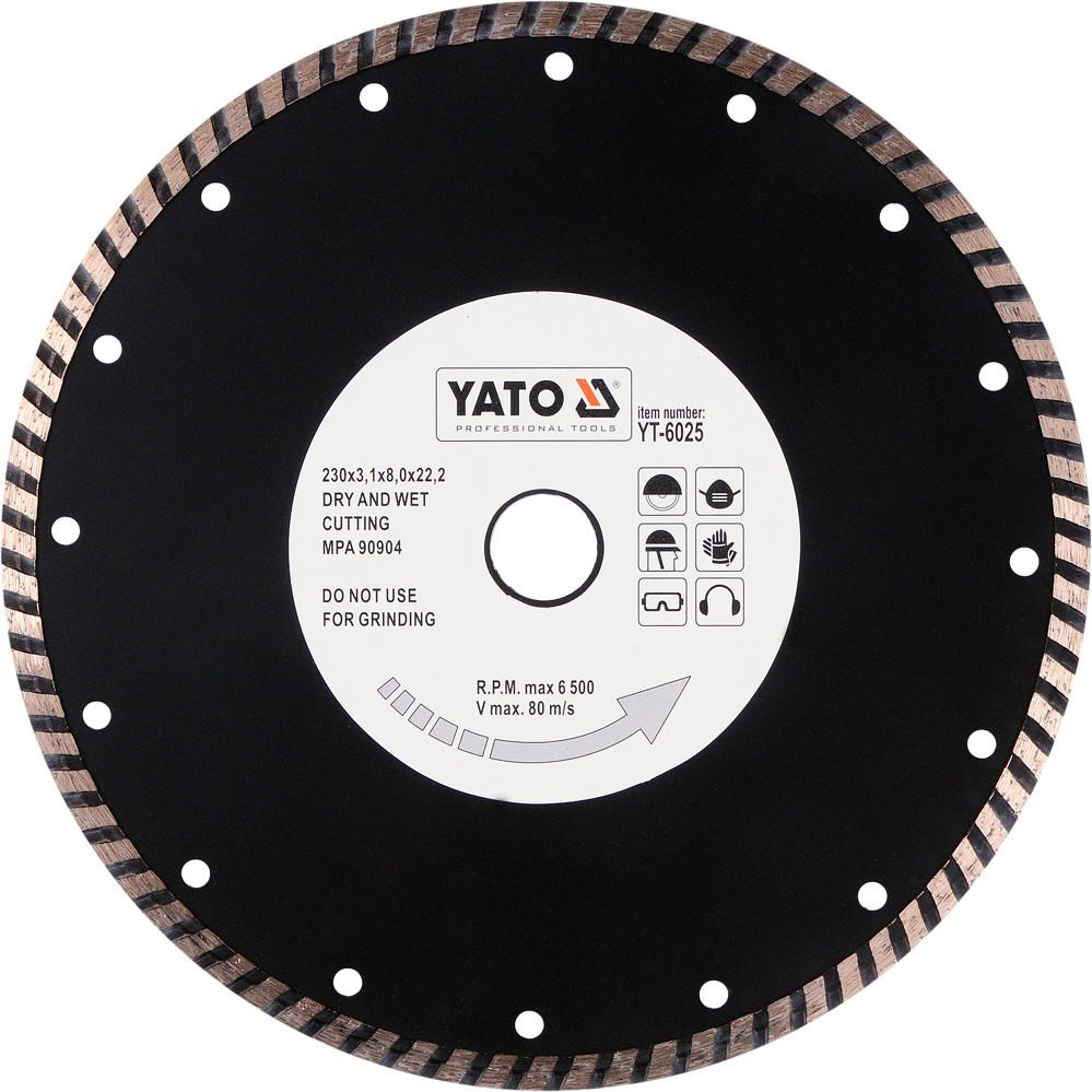 Kotouč diamantový 230 x 22,2 x 3,1 mm turbo