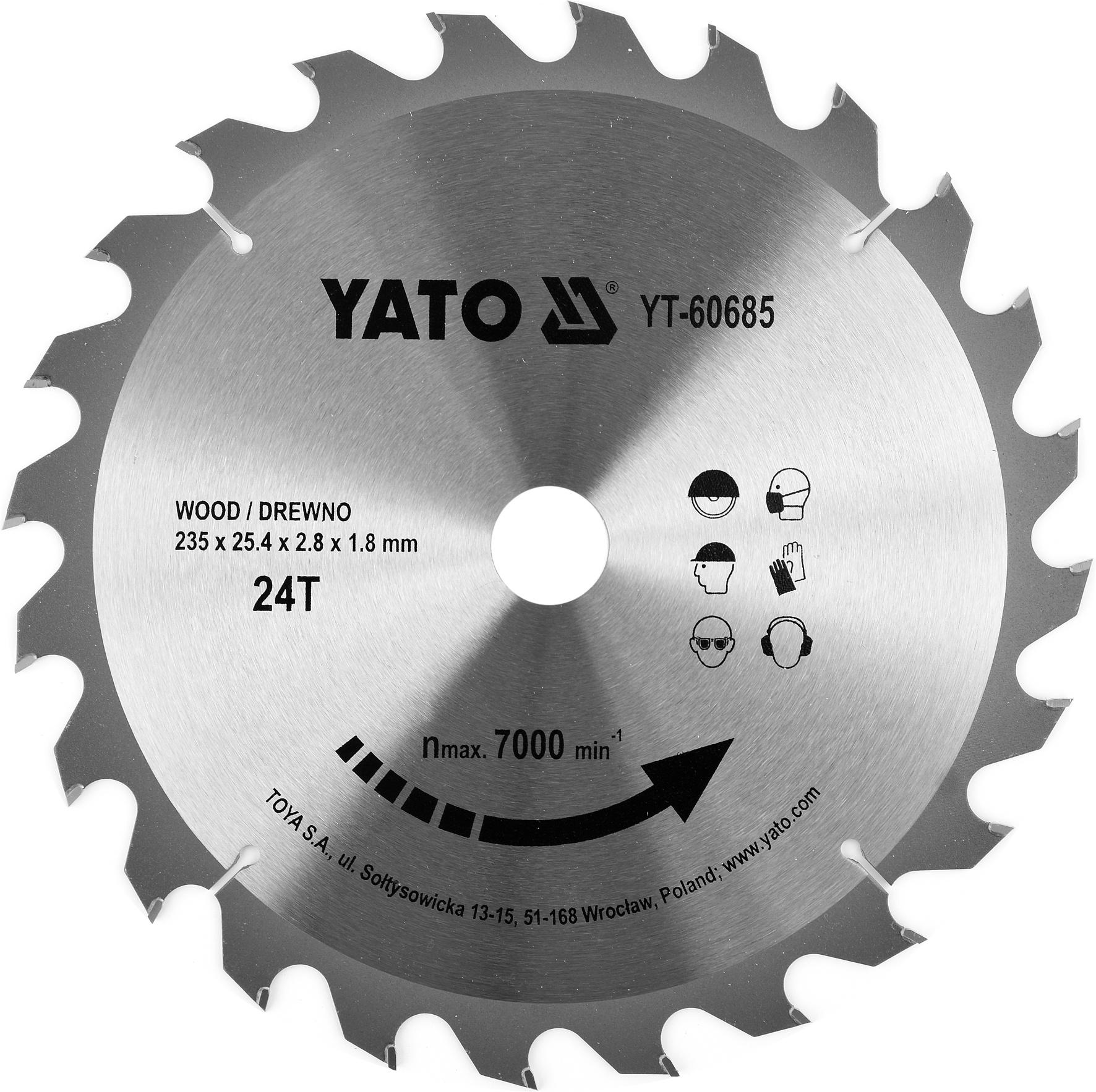 Kotouč na dřevo TCT 235 x 25.4 mm 24z (pro YT-82153)