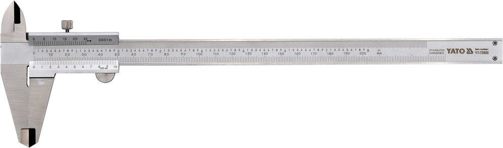 Měřítko posuvné 200 x 0,02 mm