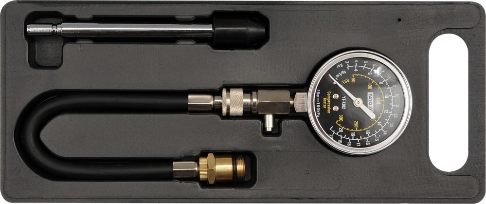 Měřící přístroj kompresního tlaku (sada)