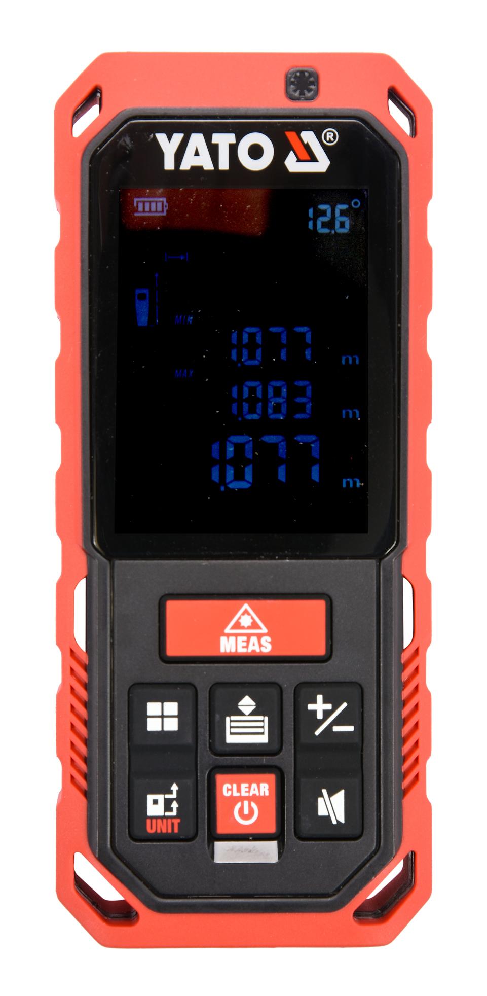 Laserový měřič vzdálenosti 0.2-40M. 10 režimů