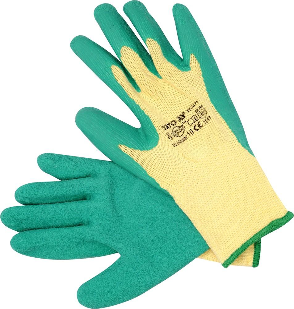 Rukavice pracovní bavlna/latex vel. 10